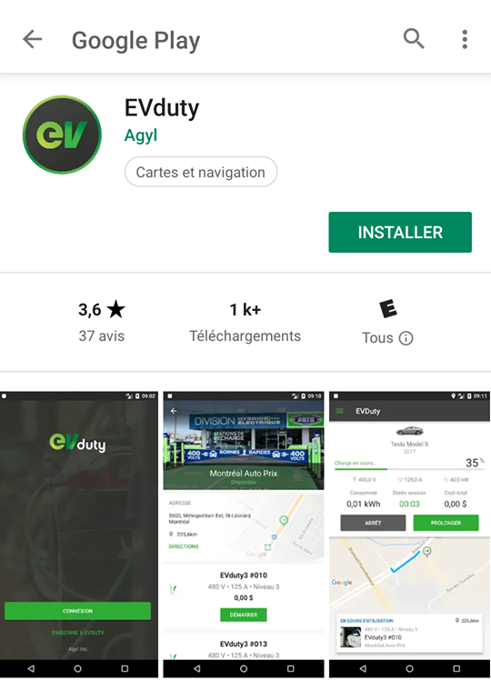 Application Mobile EvDuty Electricien